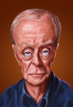 Sir Michael Caine by Ed van der Linden