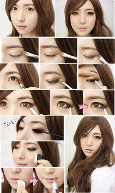 Here is a step by step #Korean #makeup tutorial www.SkincareInKorea.info