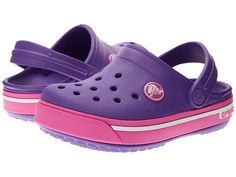 Crocs Kids Crocband II.5 Clog (Toddler Little Kid) Neon Purple  30e64949b2c