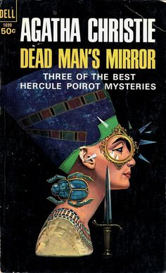 ABOVE: Agatha Christie, Dead Man's Mirror (NY: Dell, 1966), with cover art by William Teason.