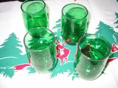 depression glass juice glasses