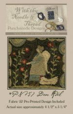 Dear Adel-punch  needle, needle punch, weavers cloth, Valdani 3 strand floss, country stitches, with thy needle and thread