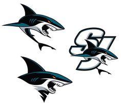 New Sharks logos, 2016.