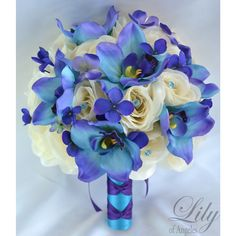 PURPLE TURQUOISE BLUE IVORY ORCHID