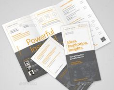 Elegant Conference Brochure Template  PsdEpsAiIndesign