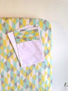Fitted Cot Sheet and Pillowcase.. simpatico mint