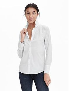 Riley-Fit Poplin Shirt