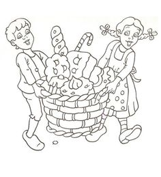 Kleurplaat: Hans en Grietje Coloring Books, Coloring Pages, Hansel Y Gretel, Rainy Day Activities, Fairy Tales, Fun, Pretty, Easy, Jack And Jill