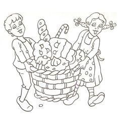 Kleurplaat: Hans en Grietje