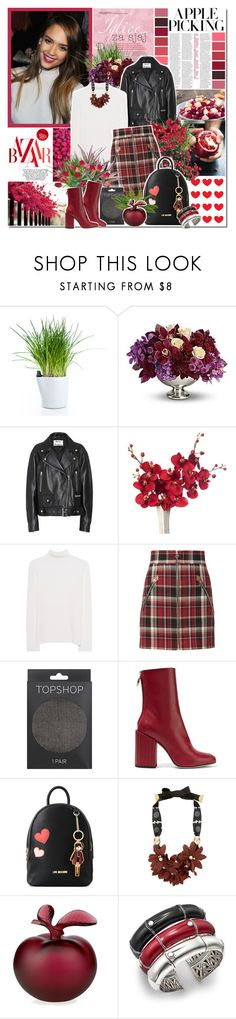"""""""Autumn in Burgundy"""" by ellchy89 ❤ liked on Polyvore featuring Royal VKB, Acne Studios, Victoria, Victoria Beckham, rag & bone, Topshop, Petar Petrov, Love Moschino, Lizzie Fortunato, Lalique and John Hardy"""