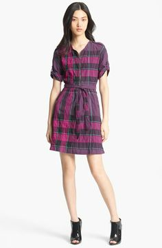 Burberry Brit 'Marguerite' Dress available in Royal Purple