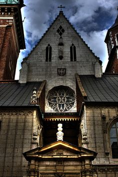Wawel Castle Church entrance, Krakow Poland