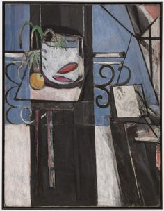 """Matisse described the abstract zone at the right of this composition as containing """"a person who has a palette in his hand and who is observing."""" Most likely, it is the artist himself. The surrealist poet André Breton said of the painting, """"I believe Matisse's genius is here . . . nowhere has Matisse put so much of himself as in this picture."""""""