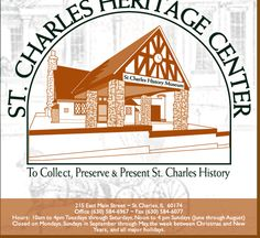 The Heritage Center has the largest amount of records on St. Charles, IL history anywhere, including birth, death, marriage, probate, newspapers, photographs, maps, letters and more.