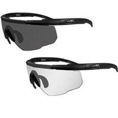 8941bd8b22 Sunglasses 176967  Wiley X 307 Smoke Grey Clear Matte Black Frame Pack Of 2  Lenses