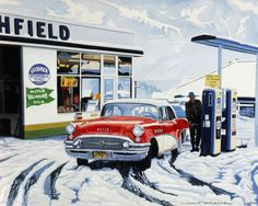 Alain Bertrand (French, born 1946) 'Ritchfield Service Station'