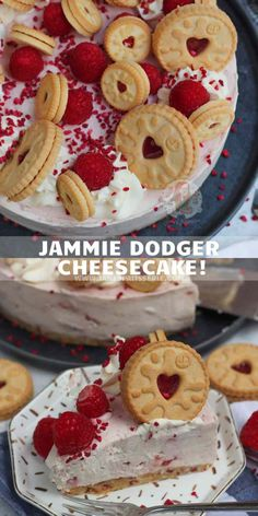 Cheesecake Recipe Uk, Cheesecake Mix, Raspberry Cheesecake, Summer Dessert Recipes, Easy Desserts, Delicious Desserts, Chocolate Easter Cake, Janes Patisserie, Desserts With Biscuits