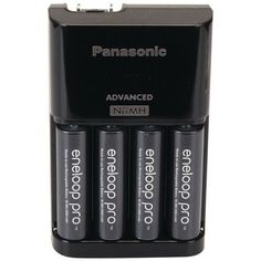 PANASONIC K-KJ17KHCA4A 4-Position Charger with AA eneloop(R) XX Batteries, 4 pk