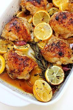 Rosemary Lemon Baked Chicken Thighs (11)