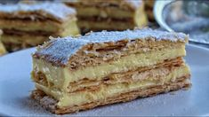 How to make the Best Mille Feuille - Jim Michailidis Sweet Desserts, Dessert Recipes, Sweetly Cake, Kolaci I Torte, Tasty, Yummy Food, Happy Foods, Few Ingredients, Greek Recipes