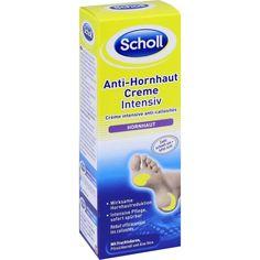 SCHOLL Anti-Hornhaut Creme:   Packungsinhalt: 75 ml Creme PZN: 11110424 Hersteller: Reckitt Benckiser Deutschland GmbH Preis: 6,37 EUR…