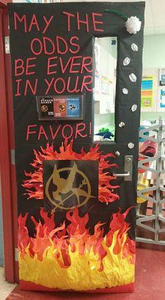 Hunger Games Door School Fun Ks2 Classroom Library