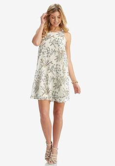Cato Fashions Wild Blooms Swing Dress-Plus #CatoFashions