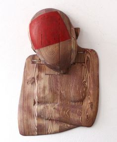 ,kurzer sommer' (rotes quadrat), 2005/10, 50 x 31 x 8 cm  Reinhard Voss