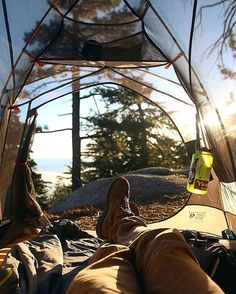 The best views are the ones you have to work for. Here is waking up to this morning view on the Pacific Crest Trail by rei Thru Hiking, Camping And Hiking, Camping Life, Backpacking, Outdoor Fun, Outdoor Camping, Continental Divide, Survival Life, Survival Gear