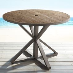Paxson Brown Round Dining Table