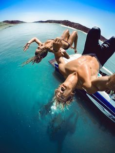 Chris Farro and his special lady having a backflipping good time using a #gopro #hero camera