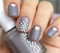 Lovely gray nail design