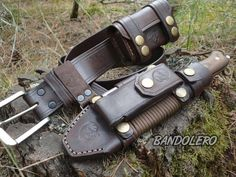 Nice leather Bushcraft rig!