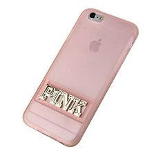 Jicheng Electronic Apple IPhone 6S Plus PINK letter Case,Classic Victoria's Secret With Stand PINK letter TPU for Apple IPhone 6 Plus/6S Plus Beige