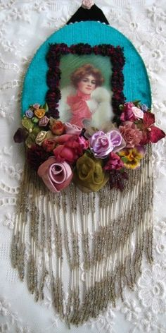 VICTORIAN LADY EMBELLISHED WALL CAMEO by JenniesHeirlooms on Etsy
