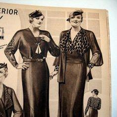 vintage plus sized women from Lane Bryant Catalog 1934