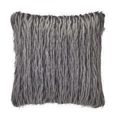 Kissen Aramis - Acrylic / Polyester - Schwarz - 45x45 cm