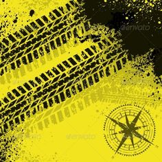 Yellow Tire Tracks with Wind Rose by longquattro Black grunge tire track background Off Road Jeep, Branding Course, Tire Tracks, Wind Rose, Tire Tread, Black Grunge, Painting Patterns, Car Pictures, City Photo