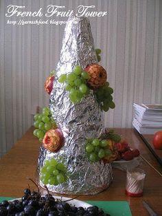 instruction on making fruit tower