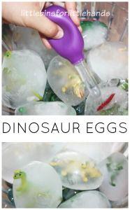 Frozen Dinosaur Egg Ice Melt Activity
