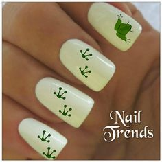 Frog Nail Decal. 20 Vinyl Stickers Nail Art by NailTrends on Etsy, $2.65
