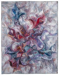 Fire On The Water. I do not have words 4 this unbelievable quilt. WOW doesn't quite fit what I was thinking when I saw this. BEYOND SUPURB Quilting Projects, Art Quilting, Quilt Art, Quilting Ideas, Quilt Corners, Landscape Art Quilts, Flower Quilts, Make Pictures, Contemporary Quilts