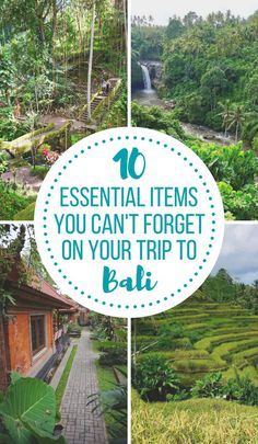 There's nothing worse that landing on the beautiful island of Bali, only to find you've forgotten a few essential items! Don't let that happen with my list of 10 essentials to remember for your trip to Bali, Indonesia. | #bali #indonesia #packlist #packinglists #whattopack #traveltips #sea #southeastasia #asia #tips #packingtips