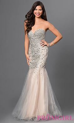 Jeweled Strapless Prom Gown Glamour by Terani at PromGirl.com