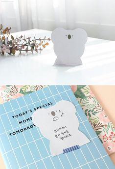 Animal Memo Pad / Koala, Fox, Bear, Rabbit Notepad / Notepads / Bookmark / Index / Korean Japanese Stationery / Scrapbooking / Cute Notepad Korean Stationery, Japanese Stationery, Pink Rabbit, Digital Journal, Writing Paper, Sticky Notes, Paper Goods, Fox, Handmade Items