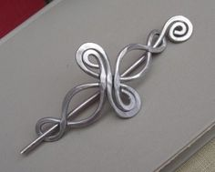 Celtic Infinity Loops Aluminum Shawl Pin/ by nicholasandfelice