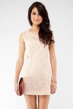 Standing Ovation Dress in Blush $46 at www.tobi.com