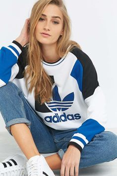 adidas - Sweat de course ample vintage