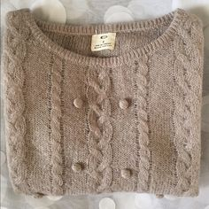 Urban Outfitters Taupe Open Knit Sweater Light gray open knit (see through) Pins and Needles sweater for Urban Outfitters. It had a minor imperfection on one of the sleeves which had been stitched up (see last pic). Otherwise in perfect condition. Color is light gray.  Marked as small but fits best to XS. Urban Outfitters Sweaters Crew & Scoop Necks