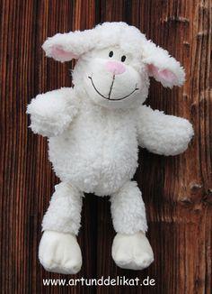 Wärmekissen - Wärmeplüschtier Schaf - ein Designerstück von Goldhexe bei DaWanda